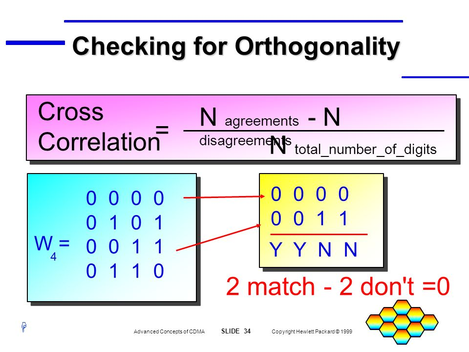 Checking for Orthogonality