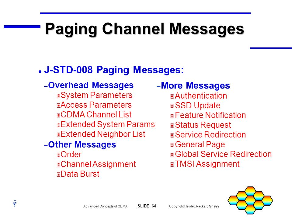 Paging Channel Messages