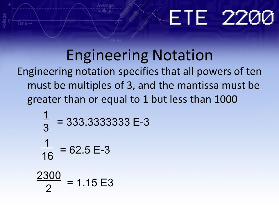 Engineering Notation