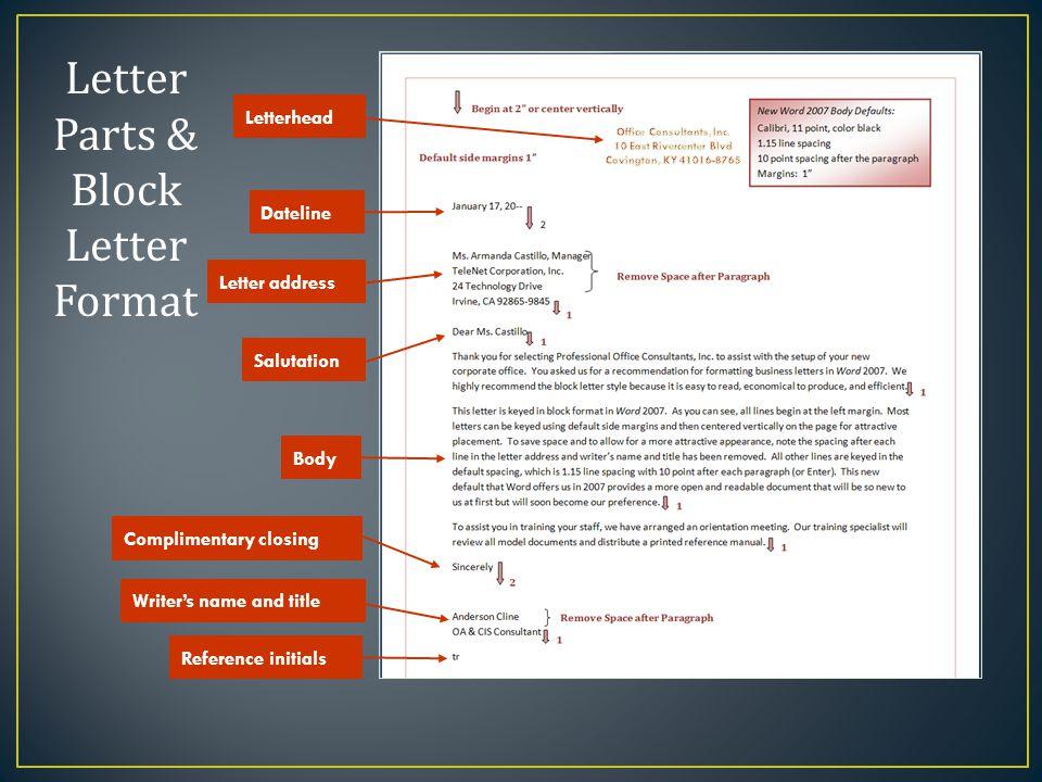 Module 4 final exam review ppt video online download 2 office consultants inc letter parts block letter format spiritdancerdesigns Choice Image