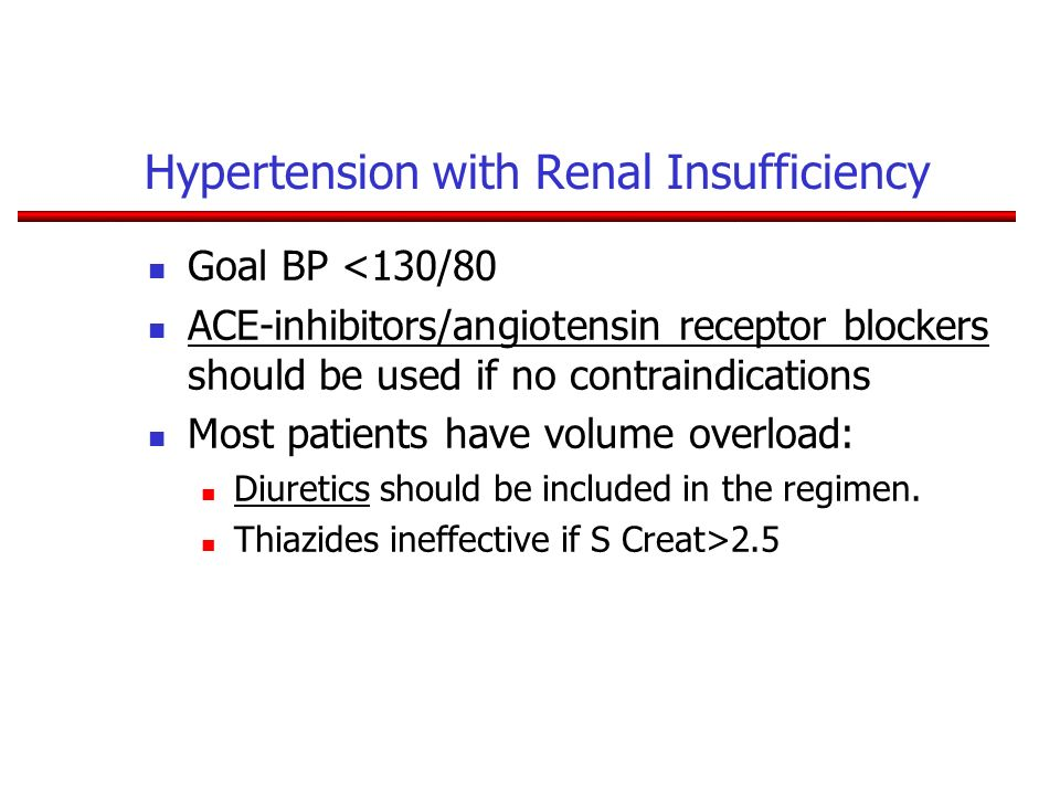 Hypertension with Renal Insufficiency