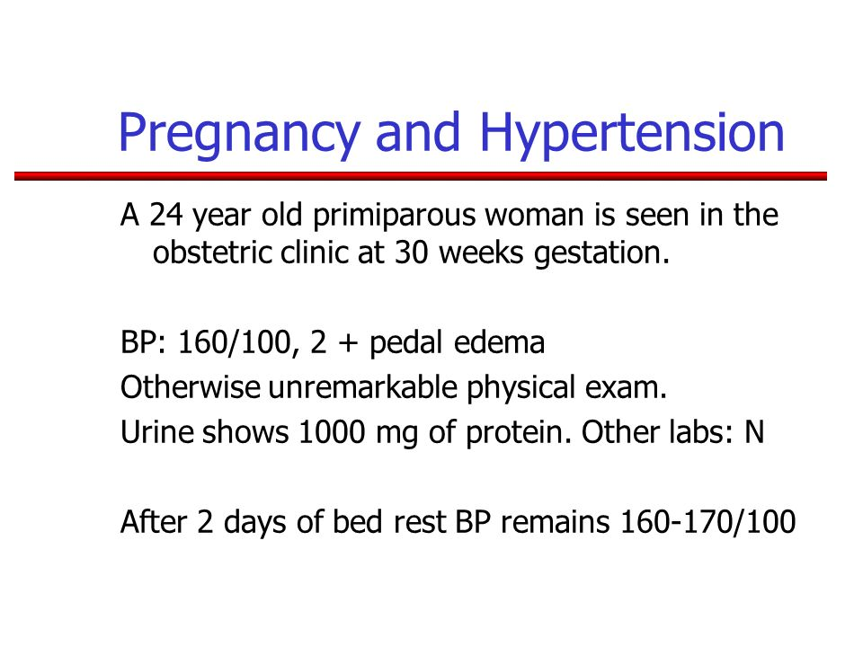 Pregnancy and Hypertension