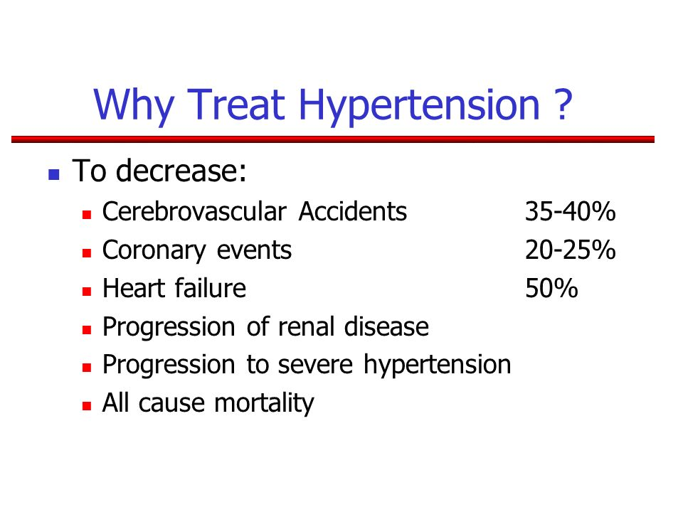 Why Treat Hypertension