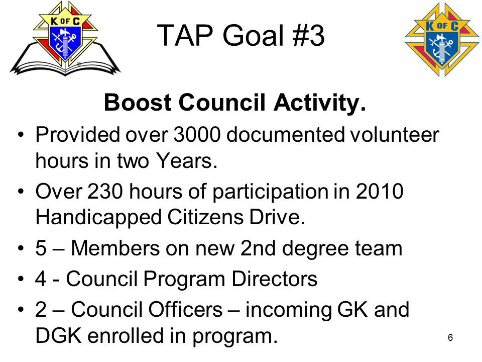 Boost Council Activity.