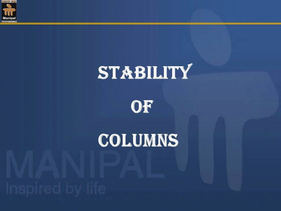 Stability of columns