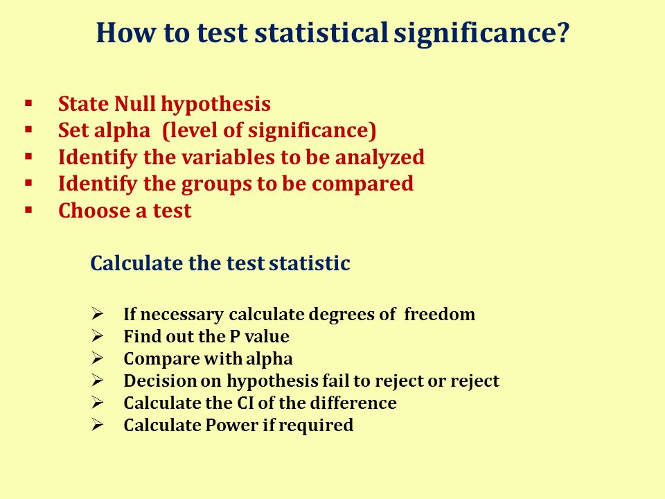 How to test statistical significance