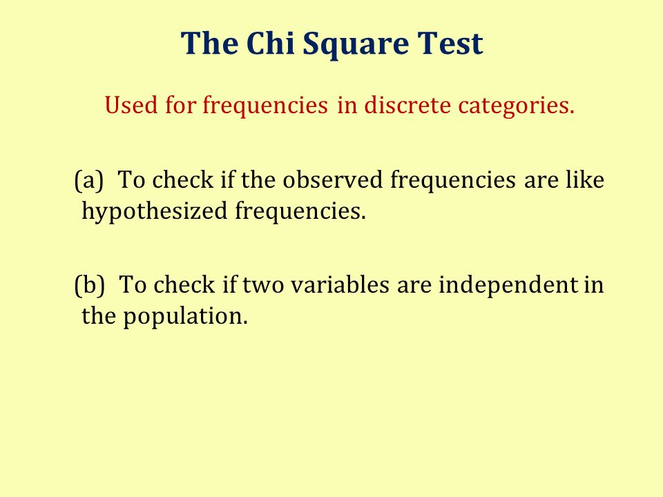 Used for frequencies in discrete categories.