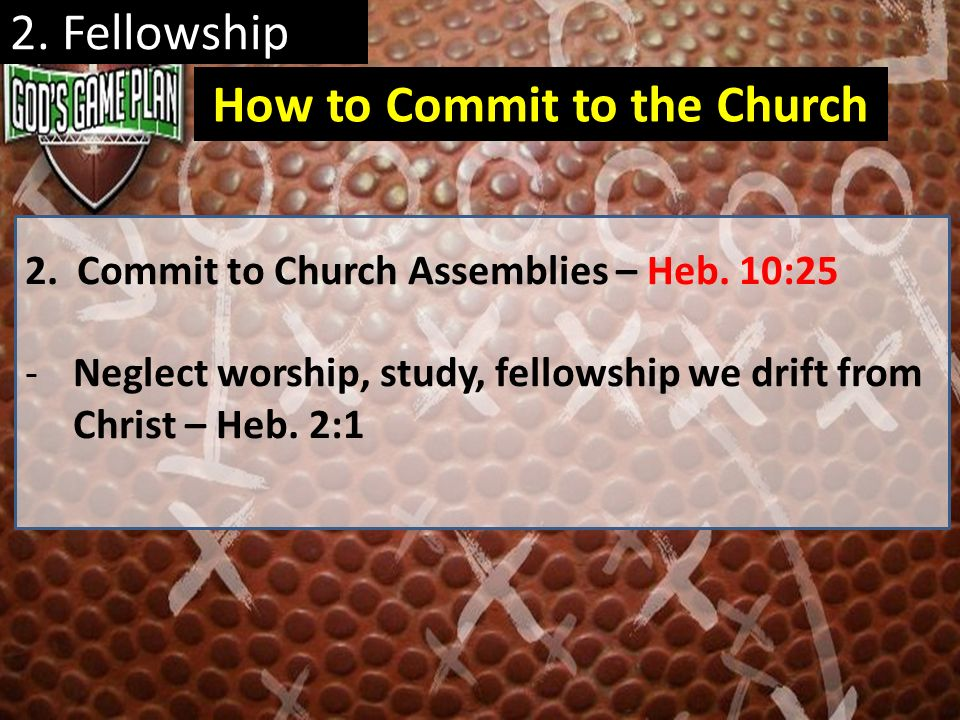 How to Commit to the Church