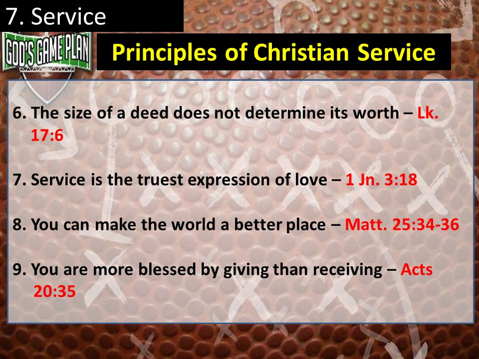 Principles of Christian Service