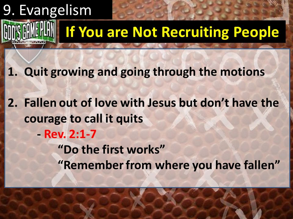 If You are Not Recruiting People