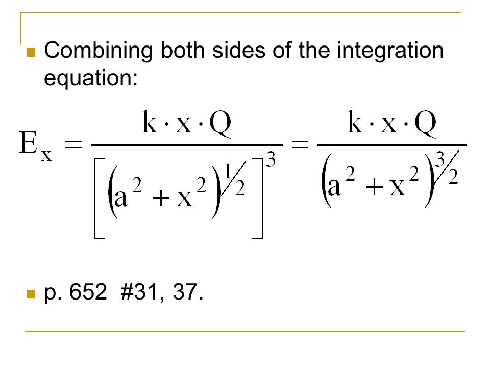 Combining both sides of the integration equation: