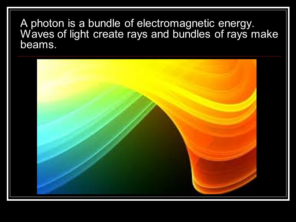 A photon is a bundle of electromagnetic energy