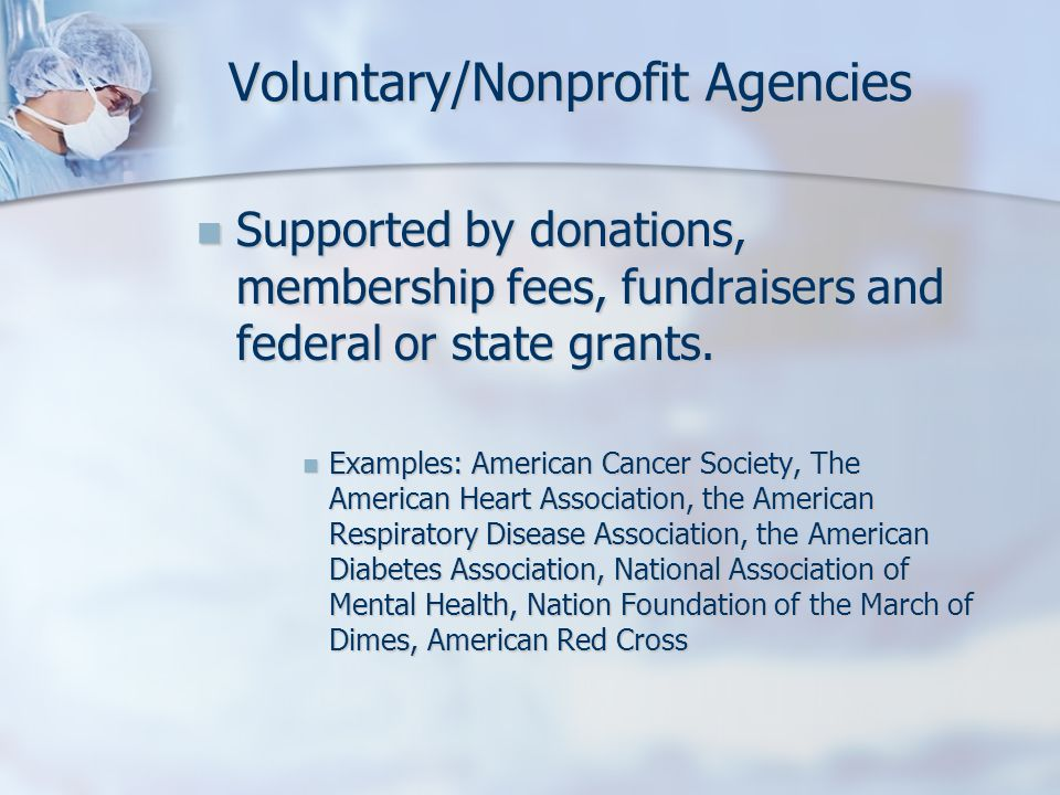 Voluntary/Nonprofit Agencies