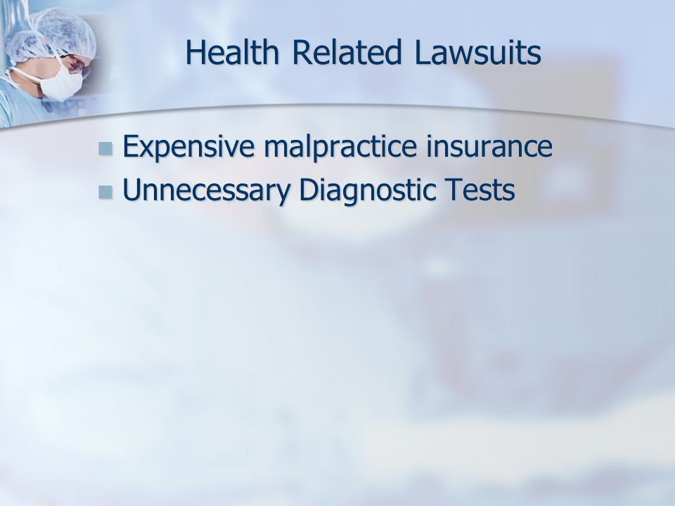 Health Related Lawsuits