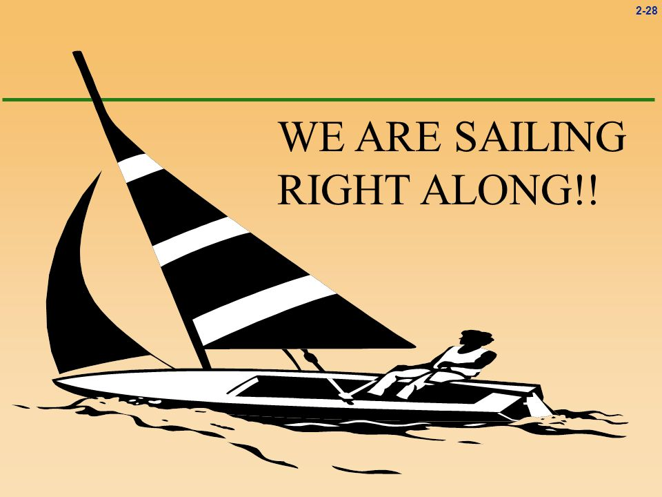 WE ARE SAILING RIGHT ALONG!!