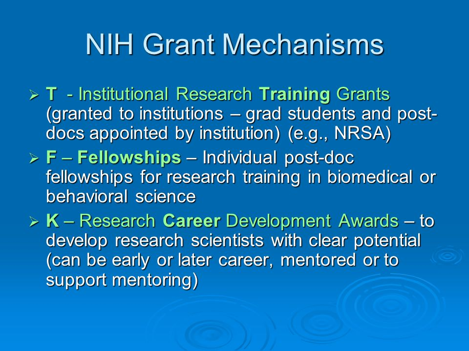 Grants 101: An Introduction to NIH Grants - ppt download