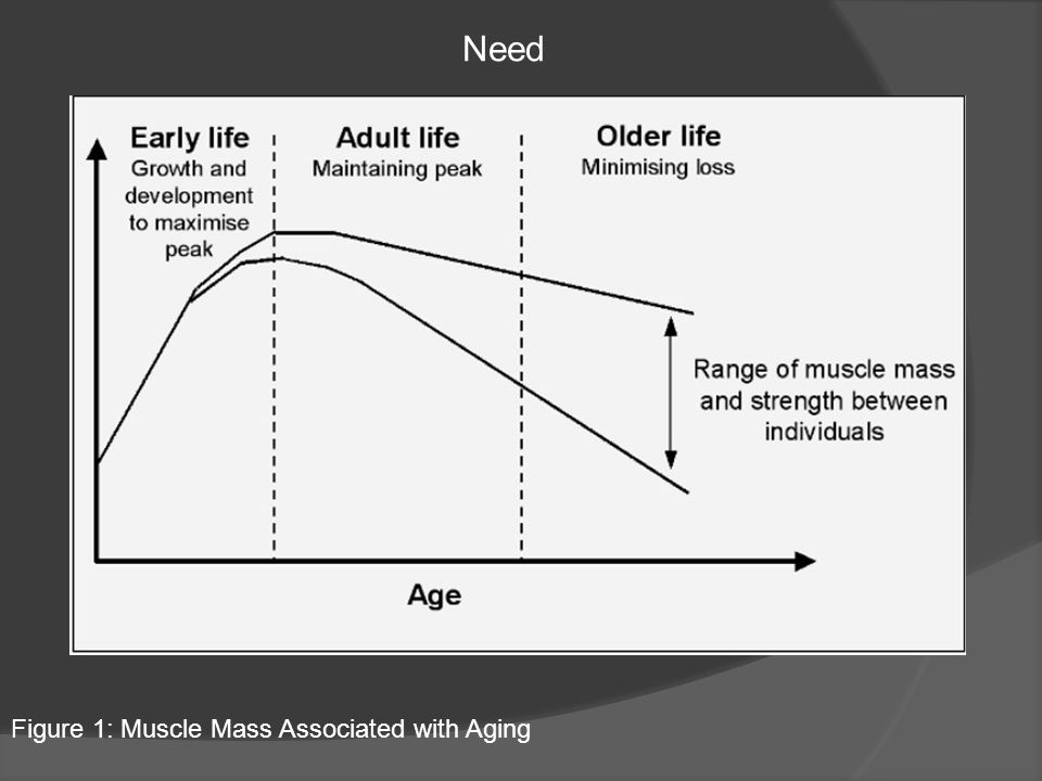 Need Figure 1: Muscle Mass Associated with Aging