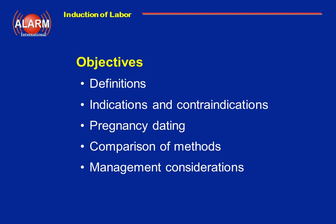 Objectives Definitions Indications and contraindications