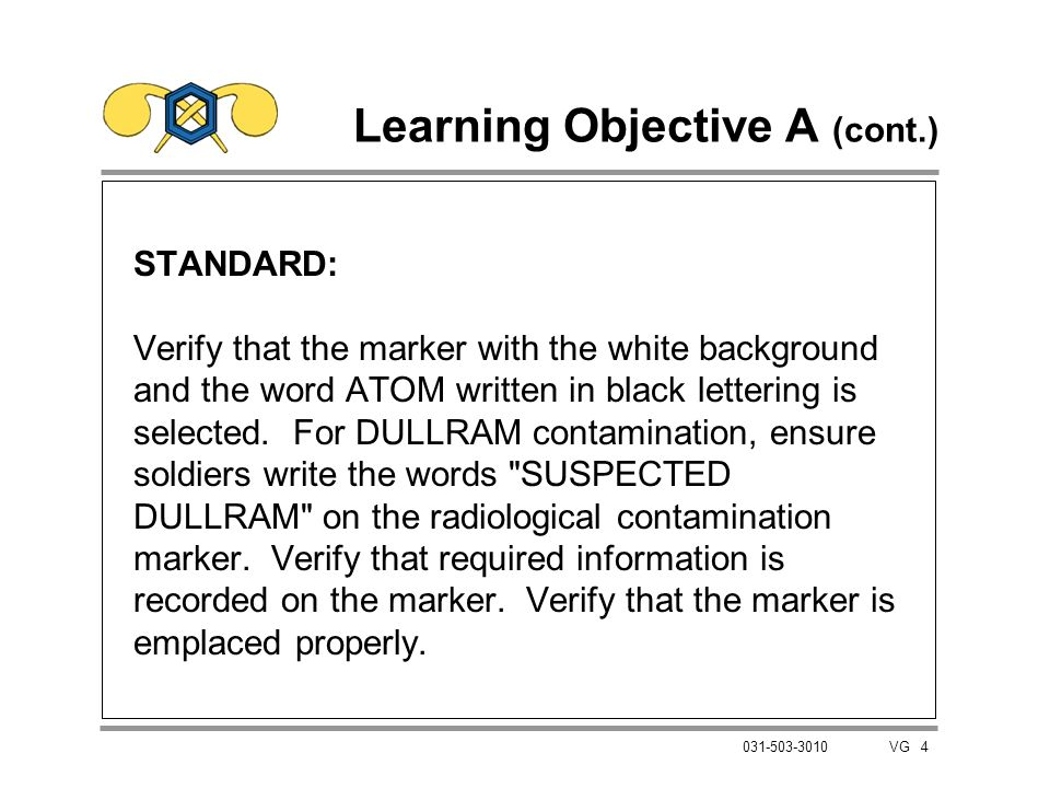 Learning Objective A (cont.)