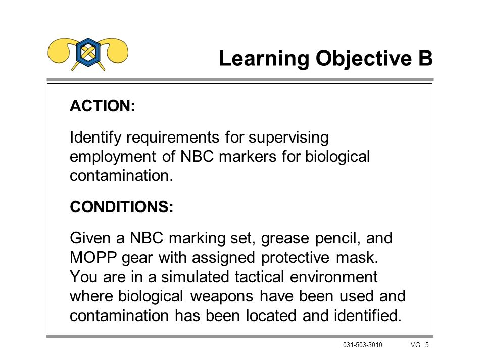 Learning Objective B ACTION: