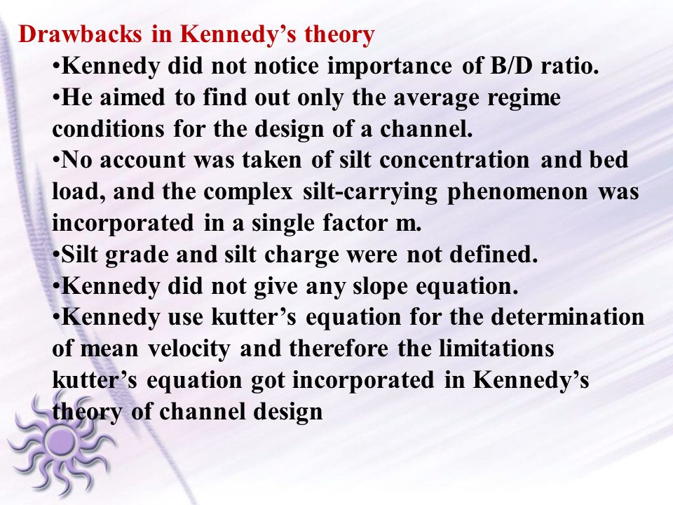 Drawbacks in Kennedy's theory