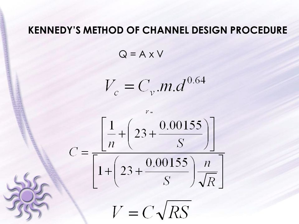 KENNEDY'S METHOD OF CHANNEL DESIGN PROCEDURE