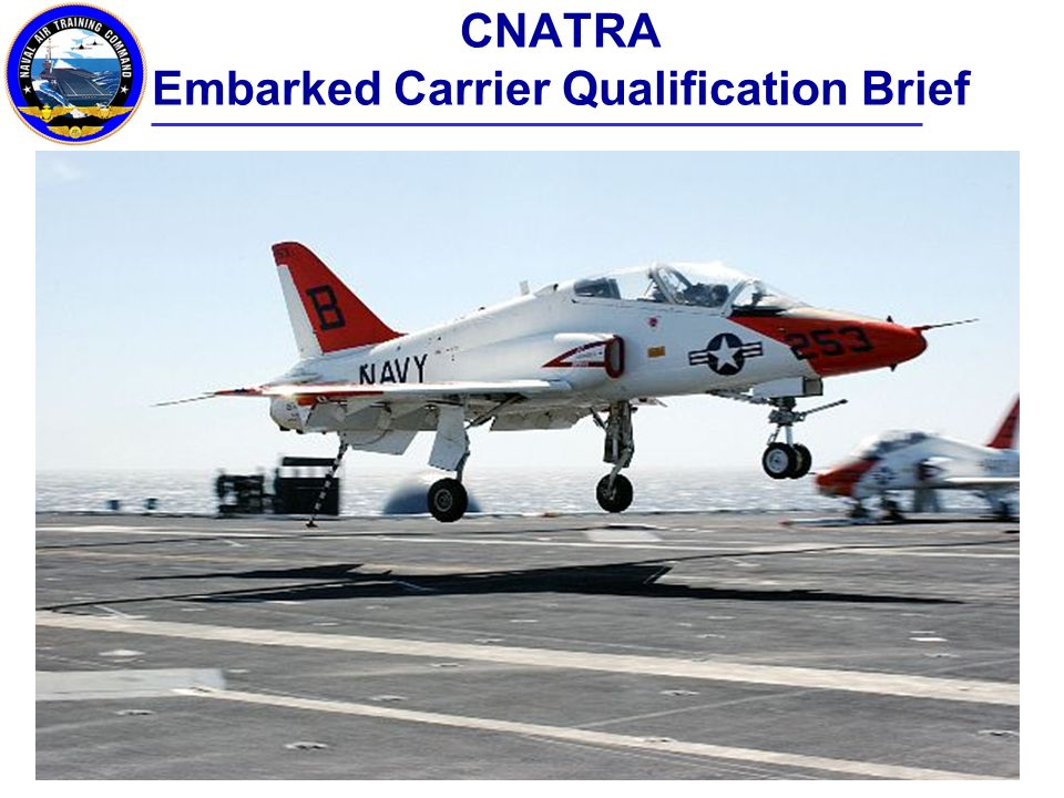 CNATRA Embarked Carrier Qualification Brief