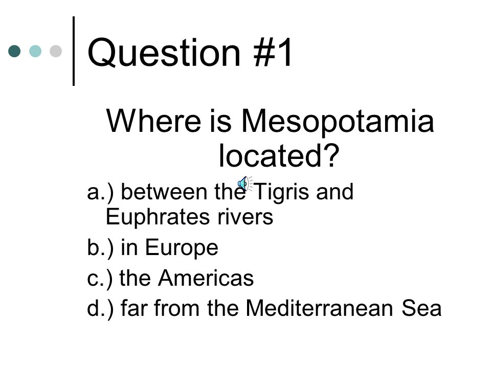 Where is Mesopotamia located