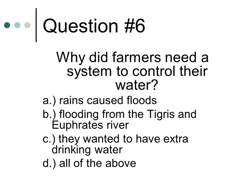Why did farmers need a system to control their water