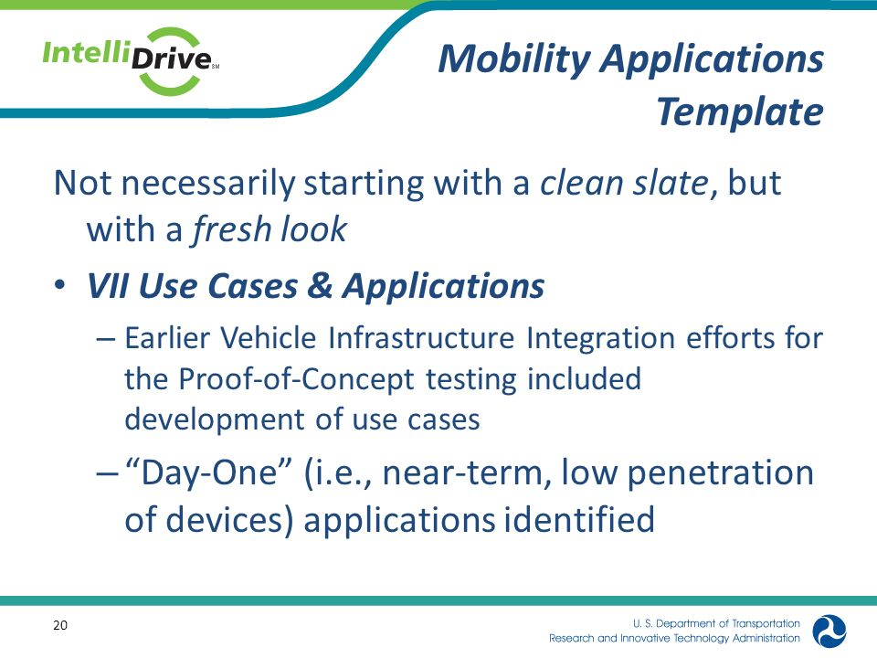 IntelliDriveSM Dynamic Mobility Applications Template - ppt download