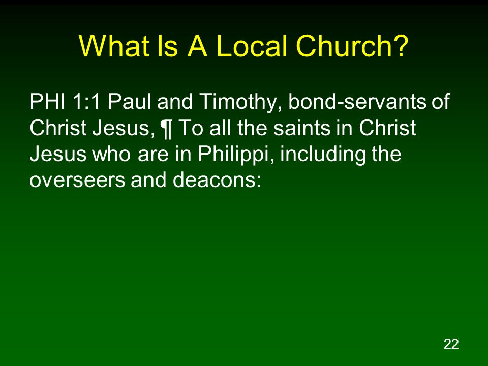 What Is A Local Church