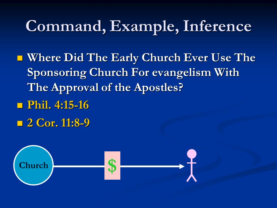 Command, Example, Inference