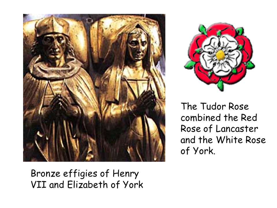 The Tudor Rose combined the Red Rose of Lancaster and the White Rose of York.