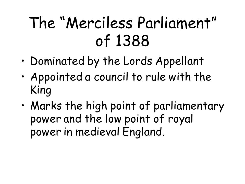 The Merciless Parliament of 1388