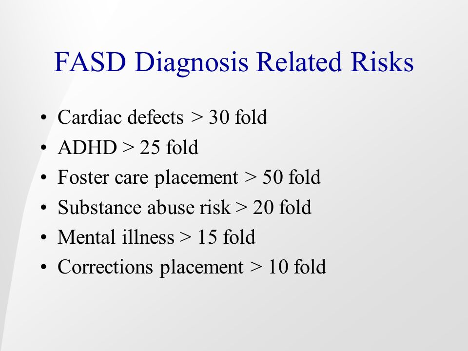 FASD Diagnosis Related Risks