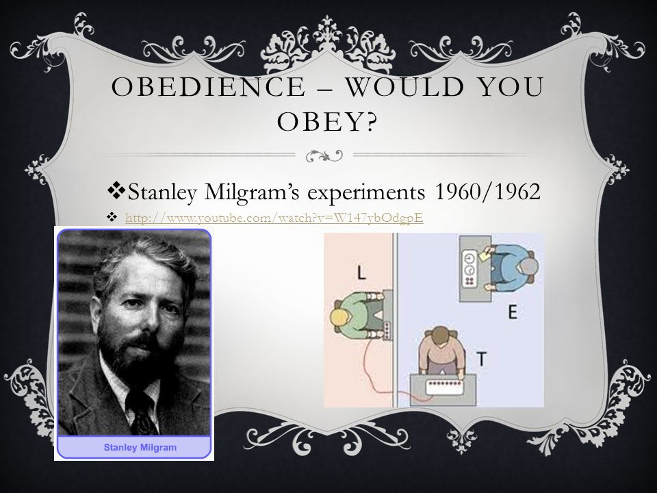Obedience – Would you obey
