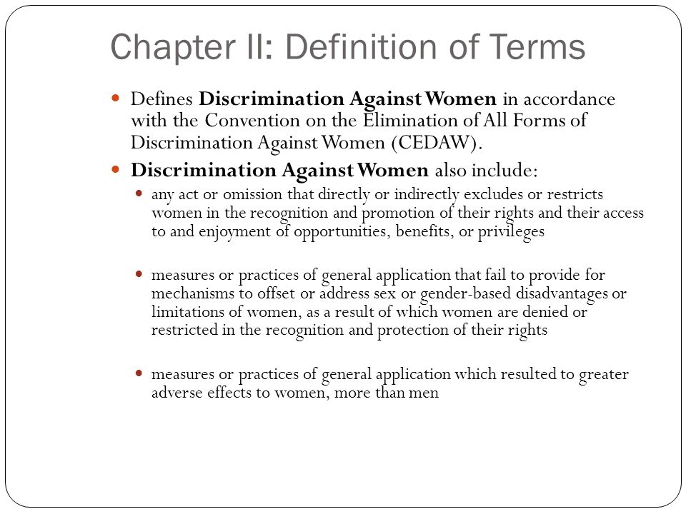 Chapter II: Definition of Terms