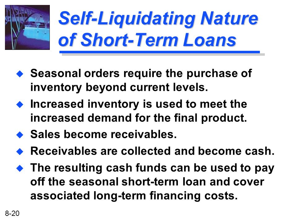 Self-Liquidating Nature of Short-Term Loans
