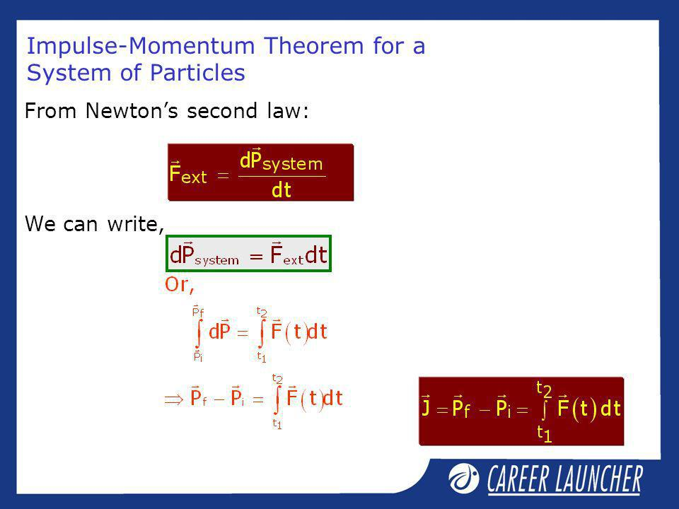 Impulse-Momentum Theorem for a System of Particles