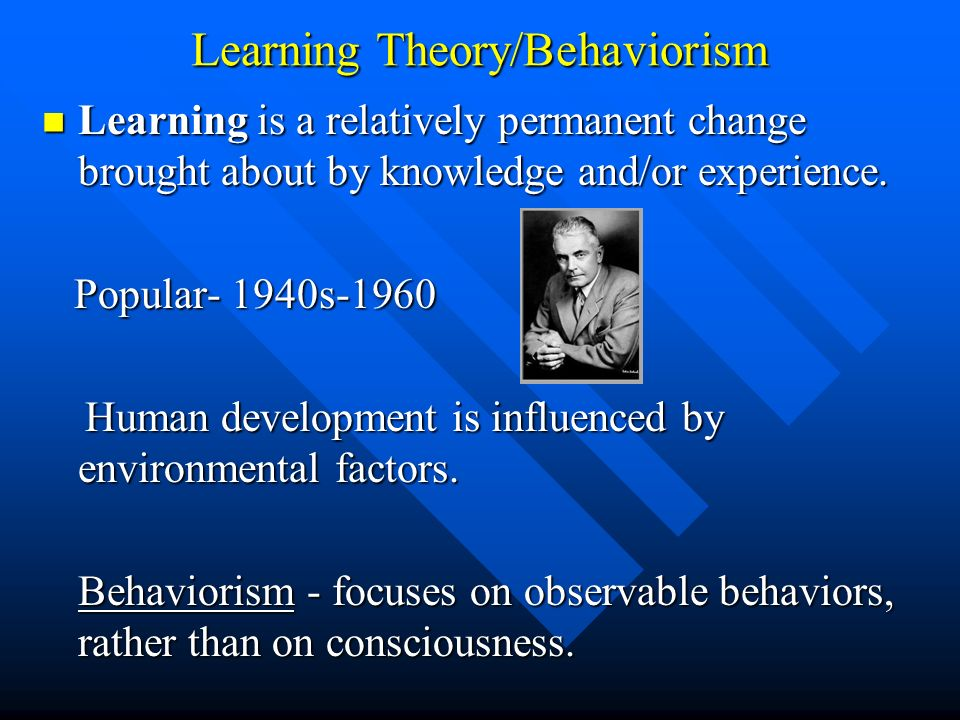 Learning Theory/Behaviorism