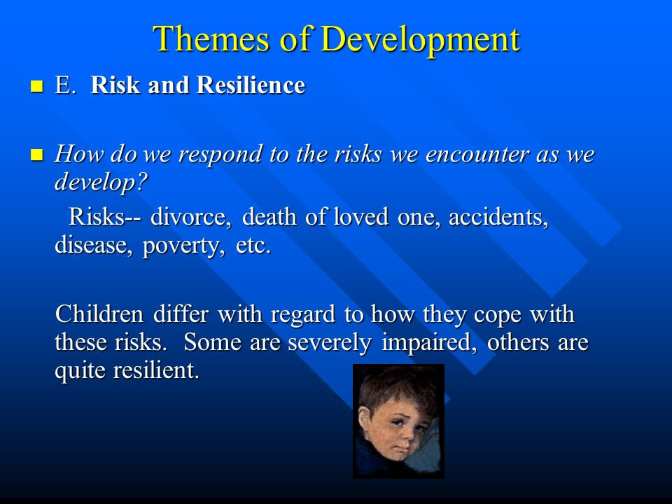 Themes of Development E. Risk and Resilience