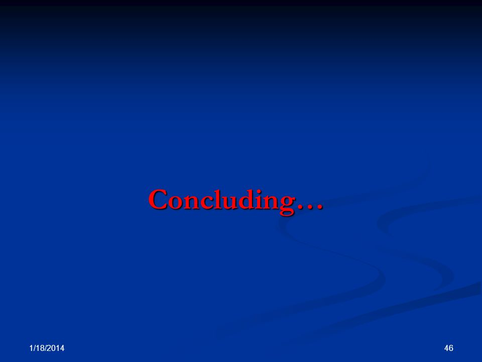 Concluding… 3/25/2017