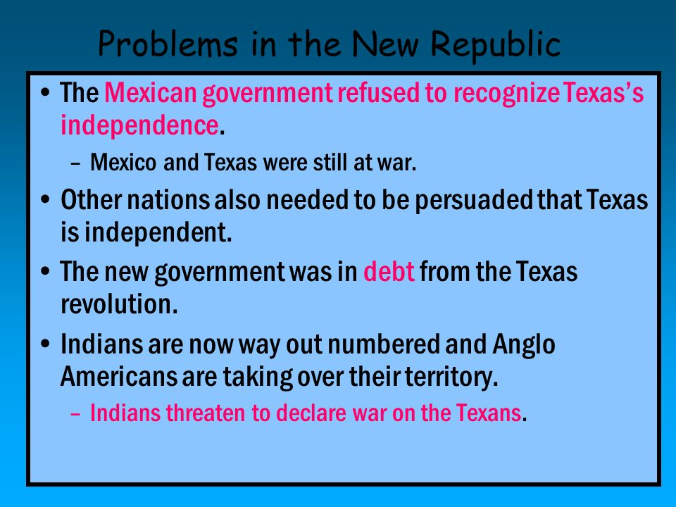 Problems in the New Republic