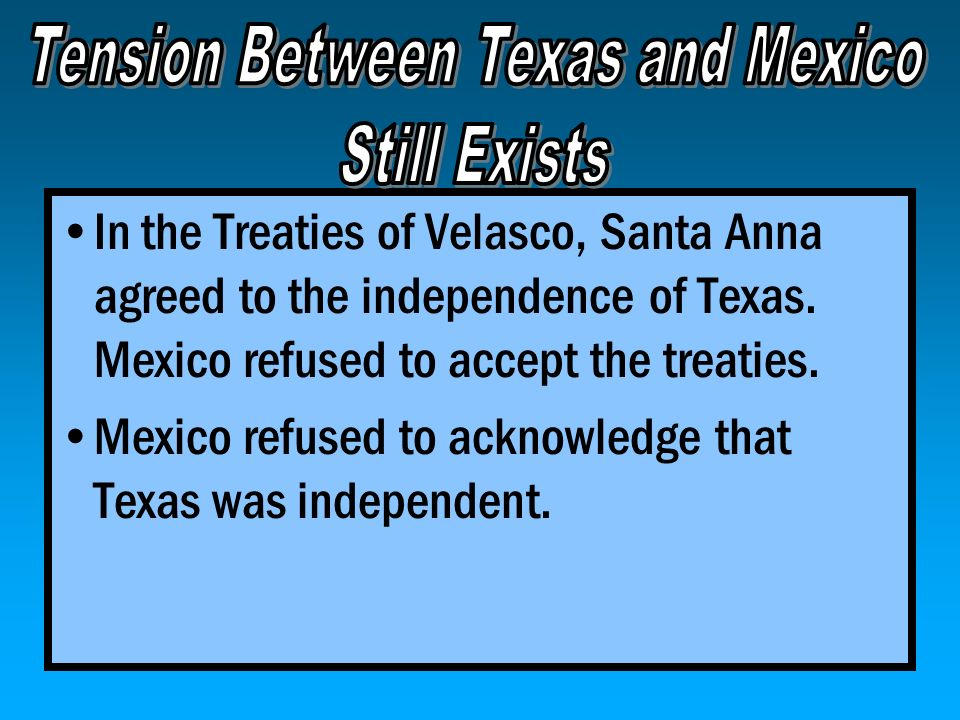 Tension Between Texas and Mexico