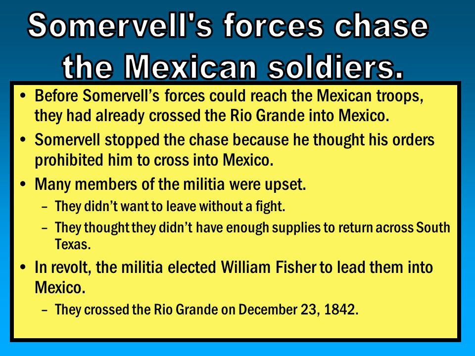 Somervell s forces chase