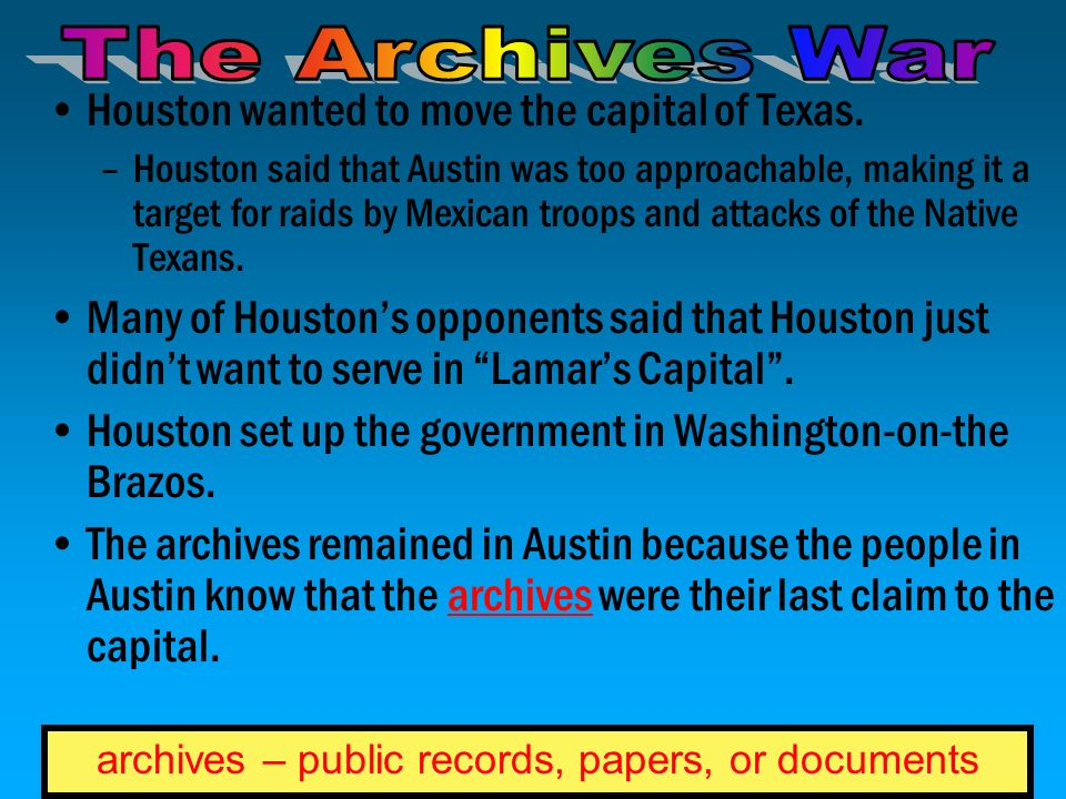 archives – public records, papers, or documents