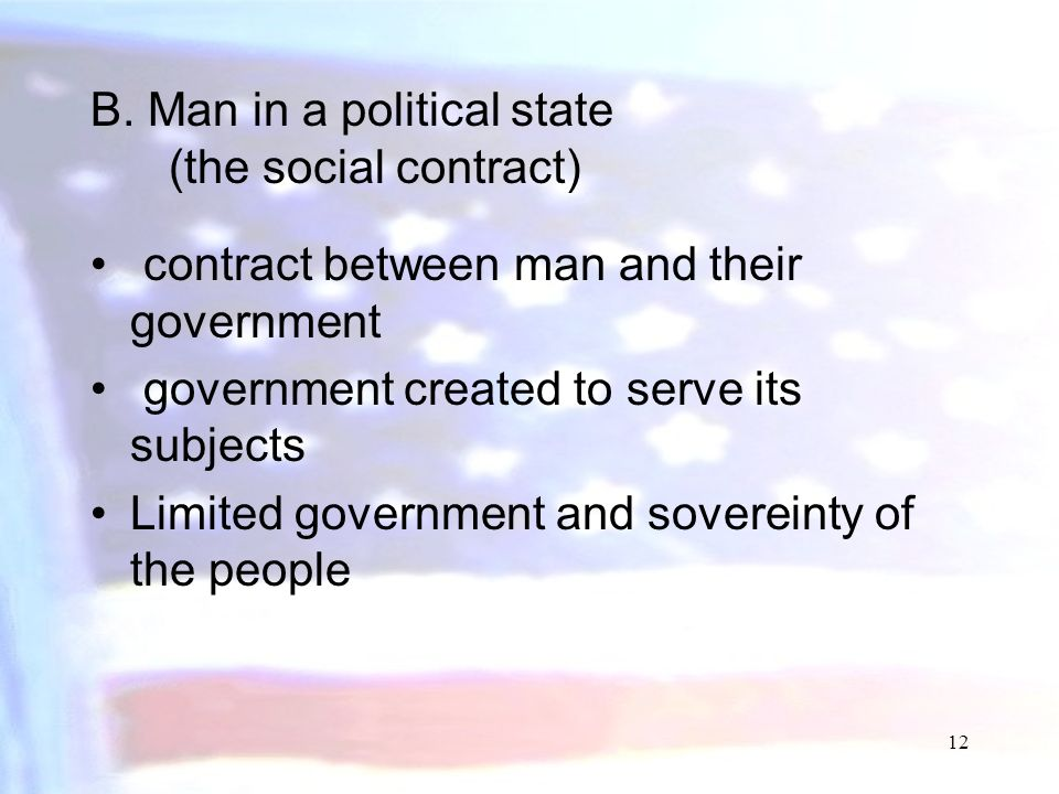 B. Man in a political state (the social contract)