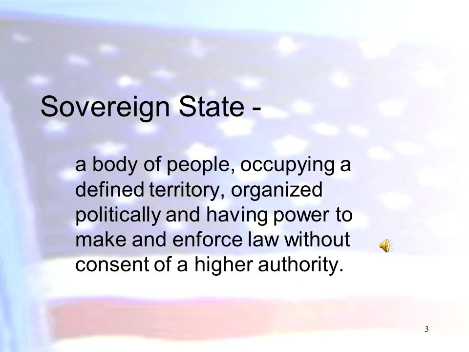 Sovereign State -