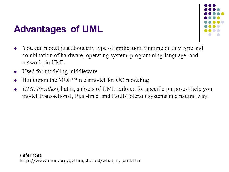 Uml an overview ppt video online download advantages of uml ccuart Gallery