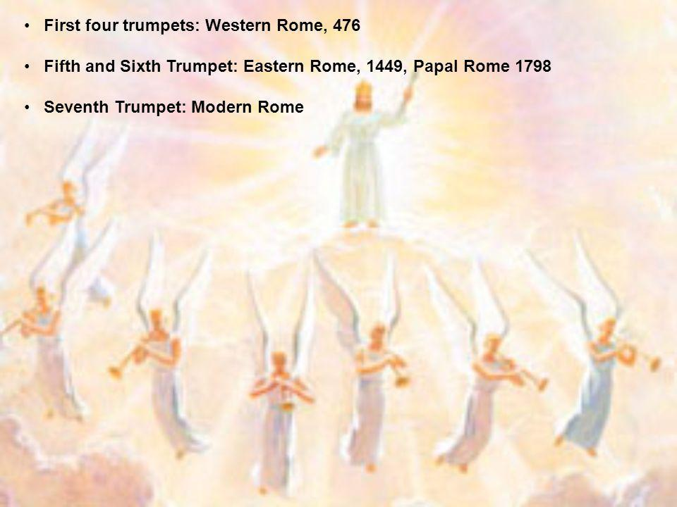 First four trumpets: Western Rome, 476